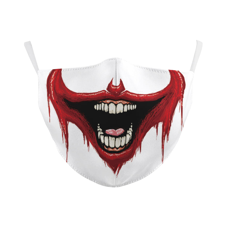 Scary Clown Smile Face Mask