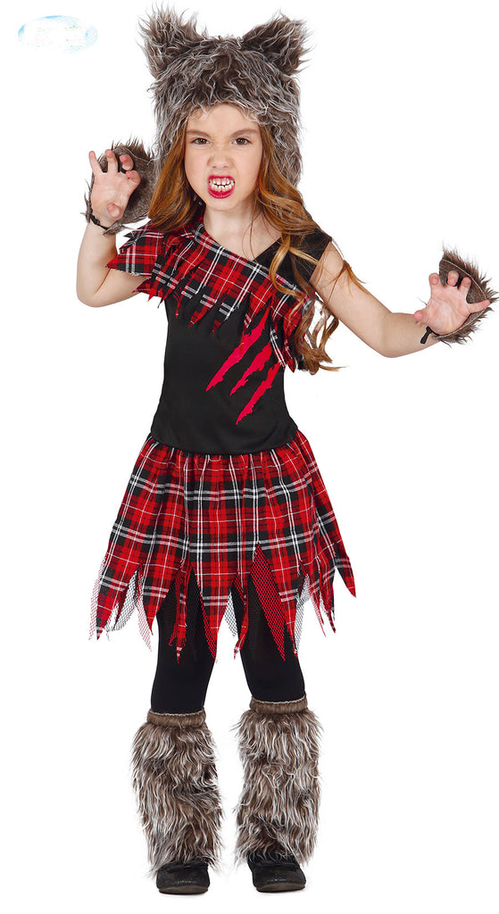 Girls Scottish Werewolf Costume for children