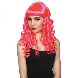 Seductress Wig Hot Pink