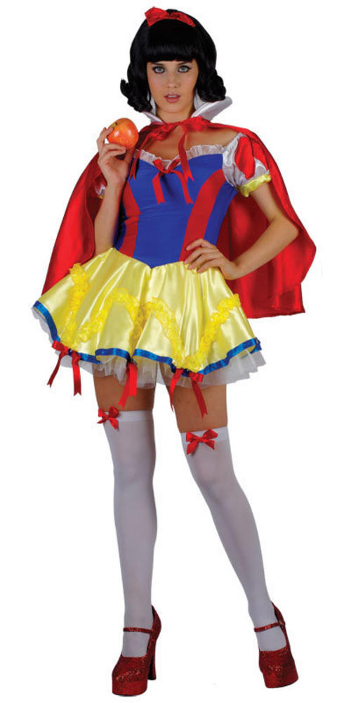 Ladies Sexy Snow White Princess Fancy Dress Costume