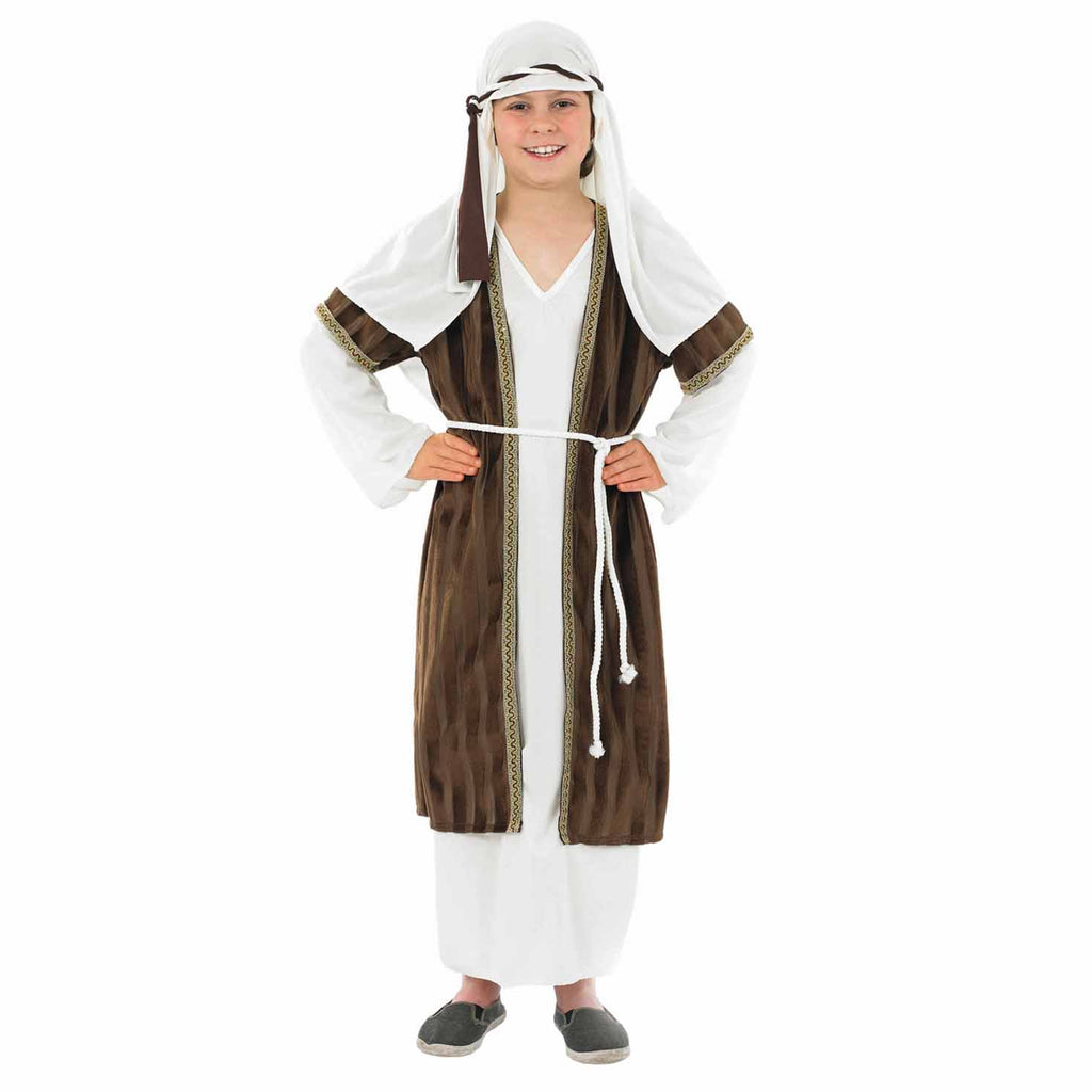 Children's Shepherd Costume Boys Brown and White