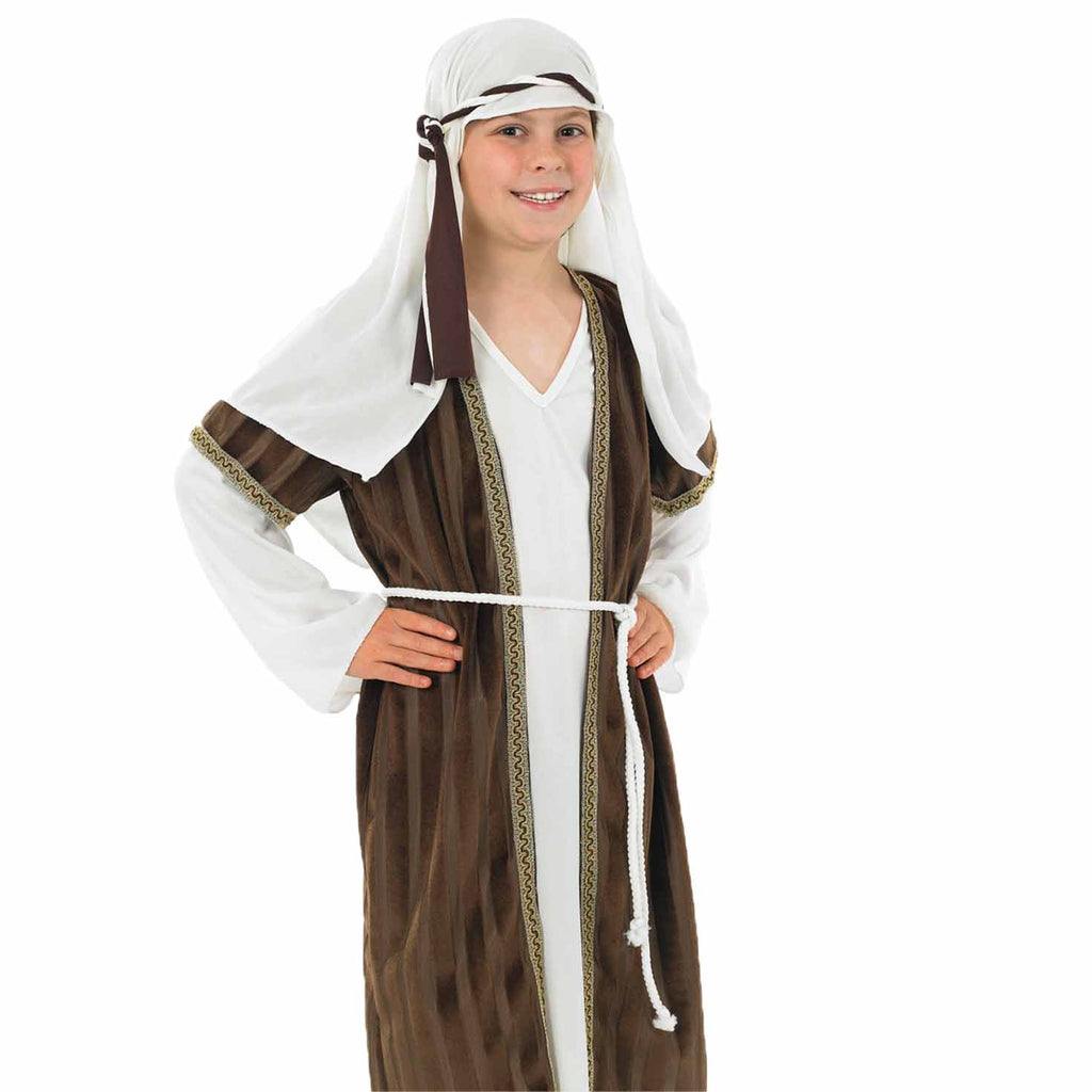 Kids Shepherd Costume Boys Brown and White