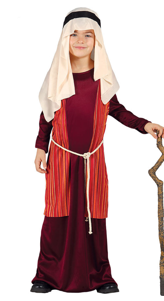 Child's Shepherd or Joseph Red Costume for nativity play