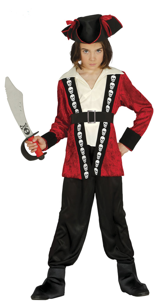Skull Pirate Boy Costume