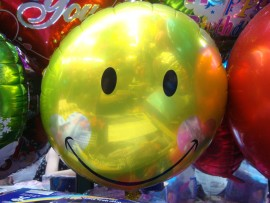 Yellow Smiley Face Foil balloon