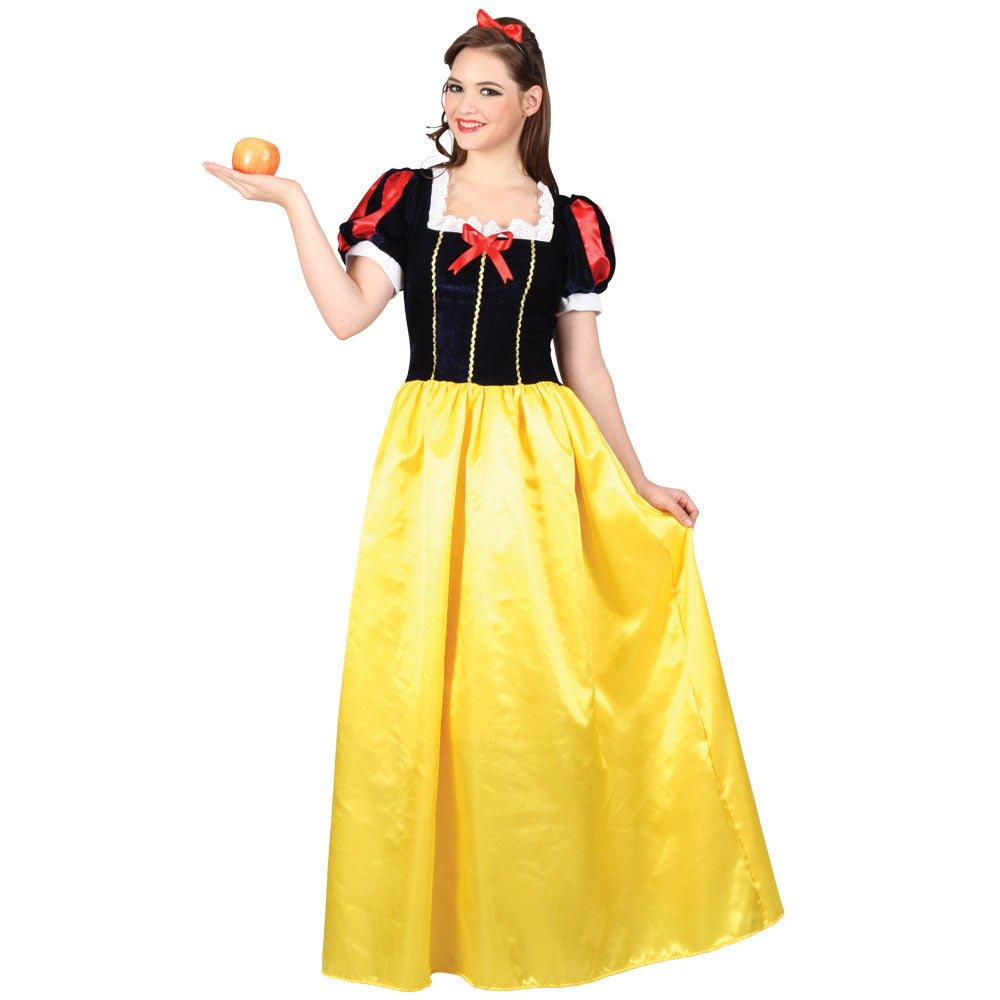 Snow Princess Costume Adult fairytale costume for women.