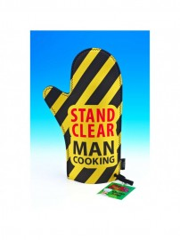 Stand Clear Man Cooking Oven Glove
