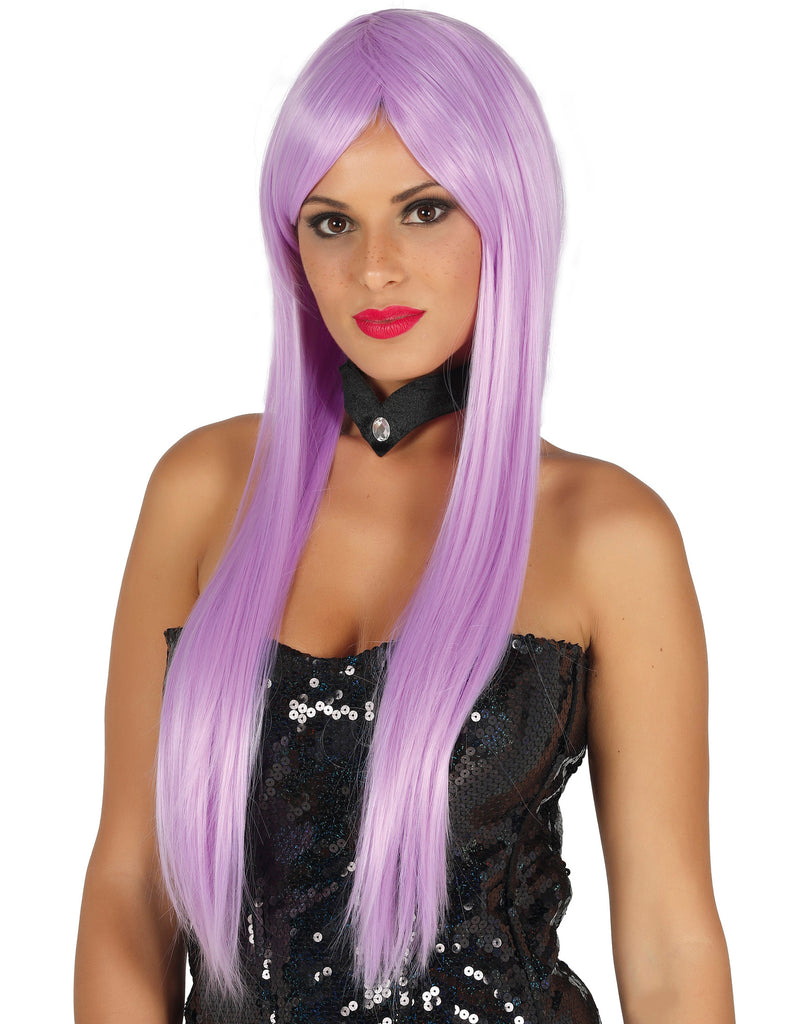 Straight Long Lilac Wig Deluxe