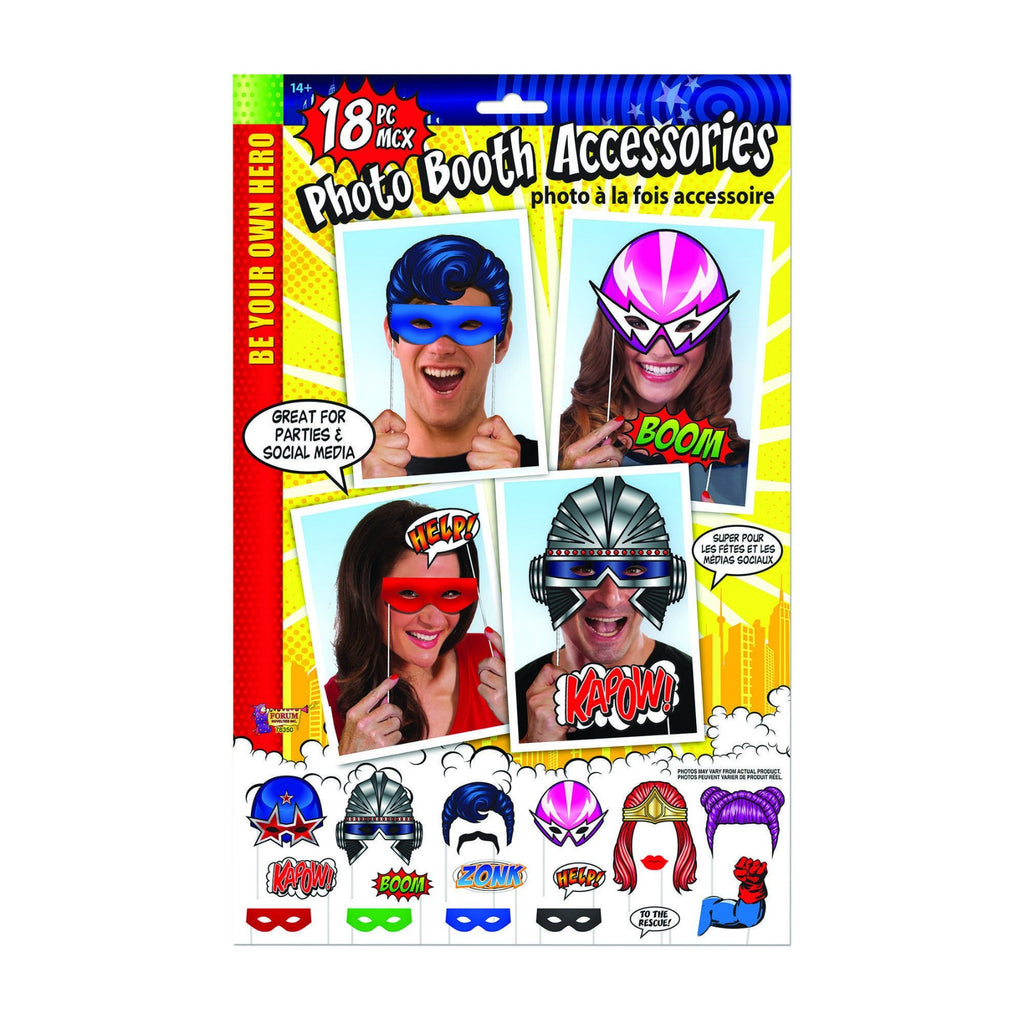 Superhero Themed Party Photo Booth Props