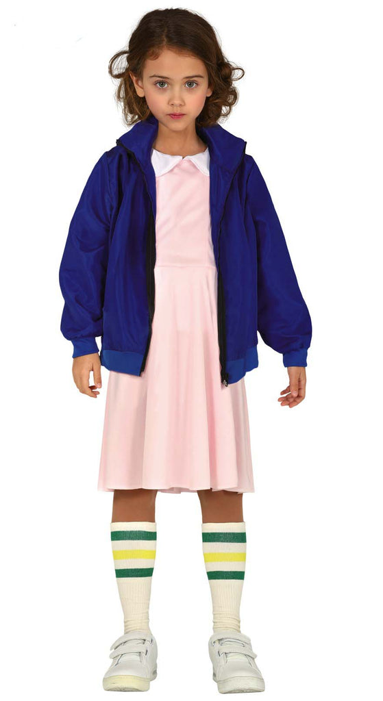 Child's Telepathic Girl Seven Costume from T.V show Stranger Things