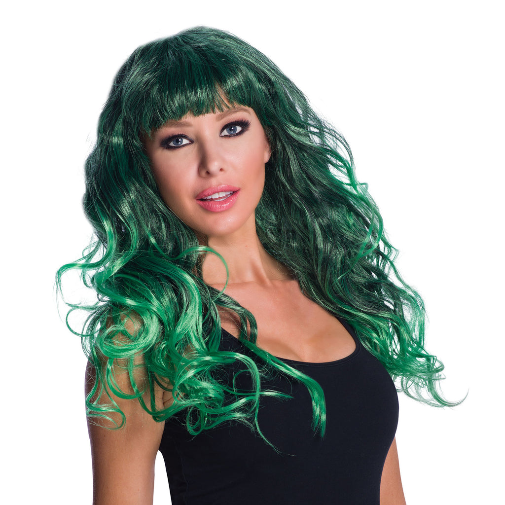 Temptress Green Black ladies Wig