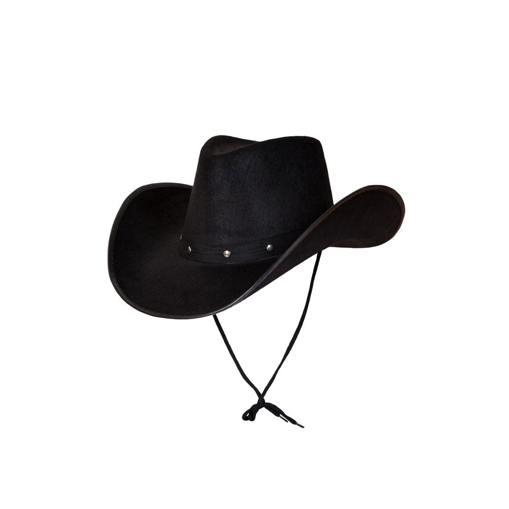Texan Cowboy Hat Black Studded