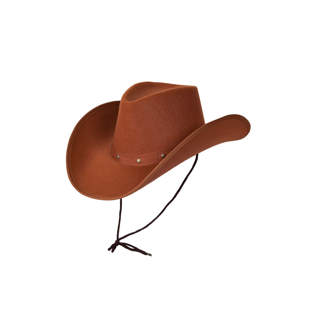 Texan Cowboy Hat Brown Studded