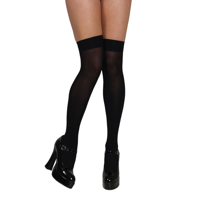 Thigh Highs black Stockings.