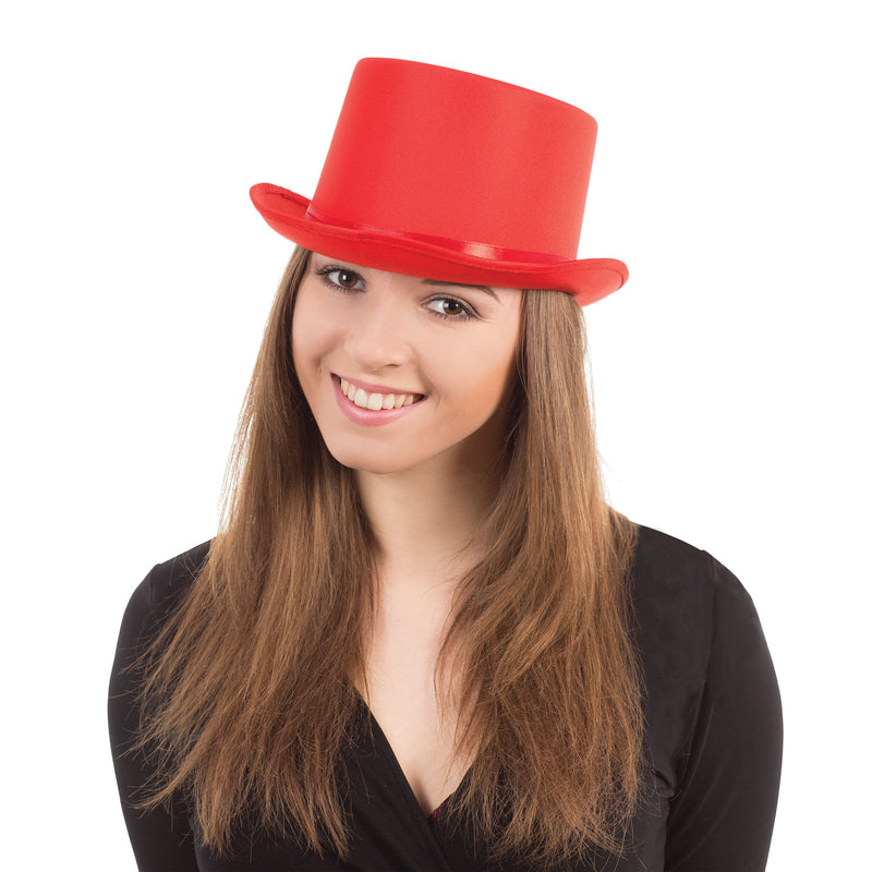 Top Hat Red Satin