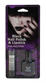 Vampire Black Nailpolish & Lipstick