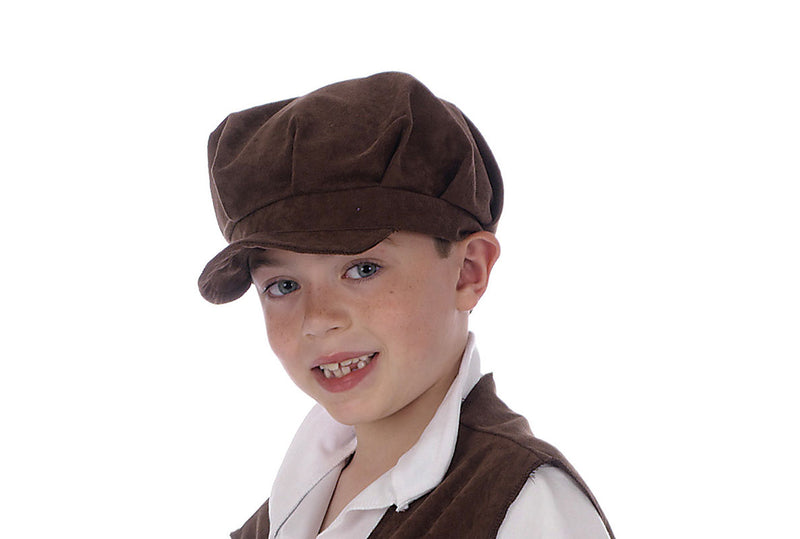 Children's Victorian Flat Cap Brown