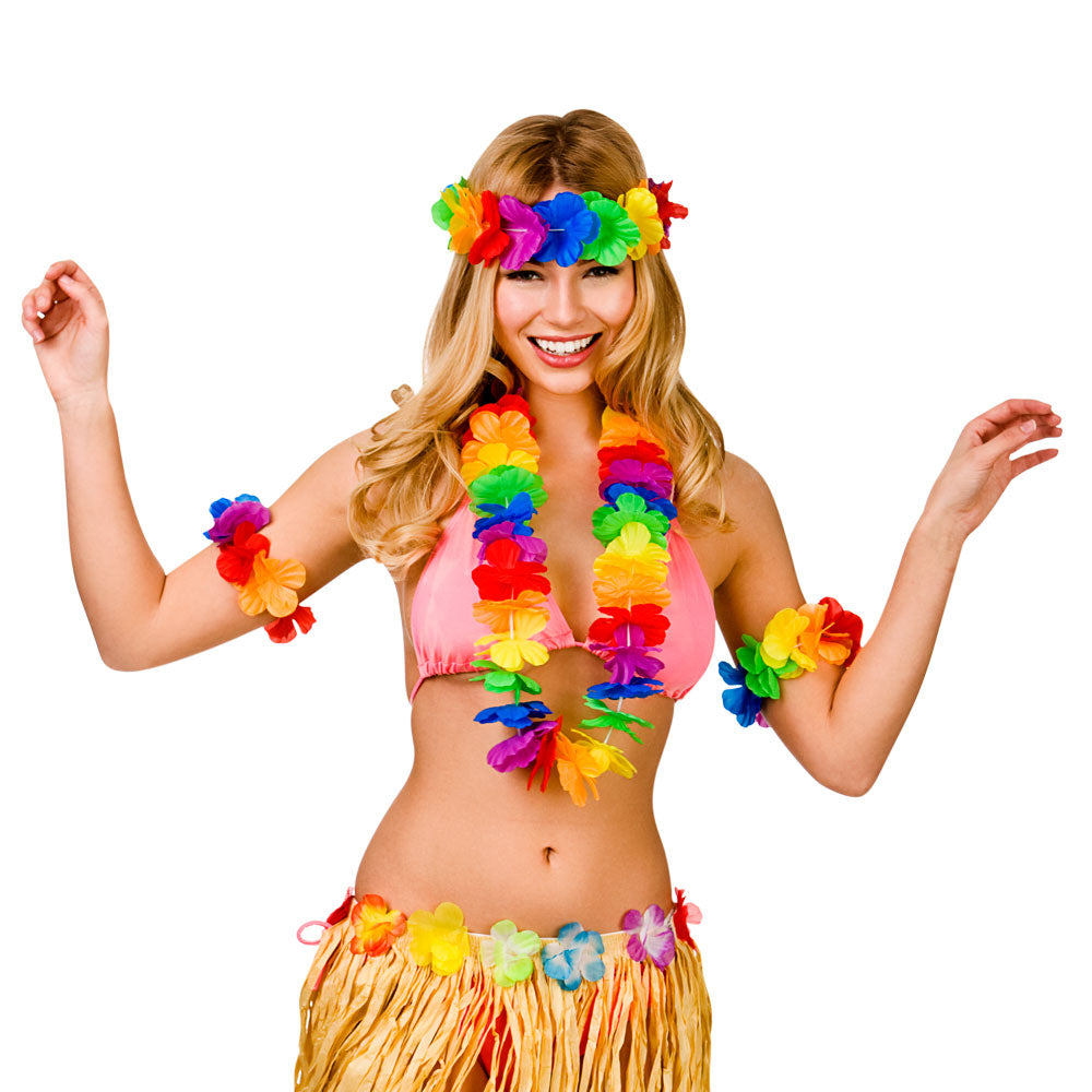 Waikiki Hawaiian Costume Lei Accessory Set