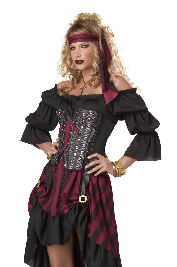 Ladies Wench Pirate Costume Deluxe