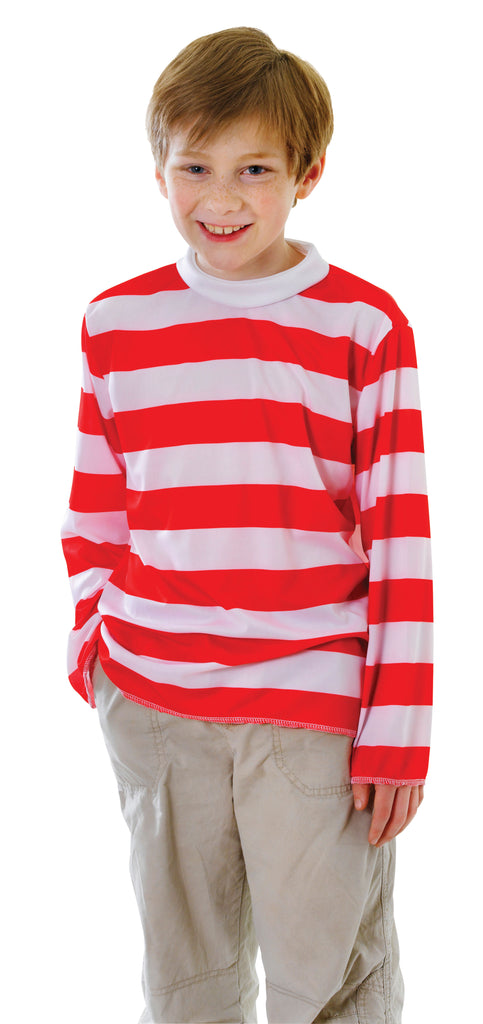 Wheres Wally Red And White Striped Jumper boys.