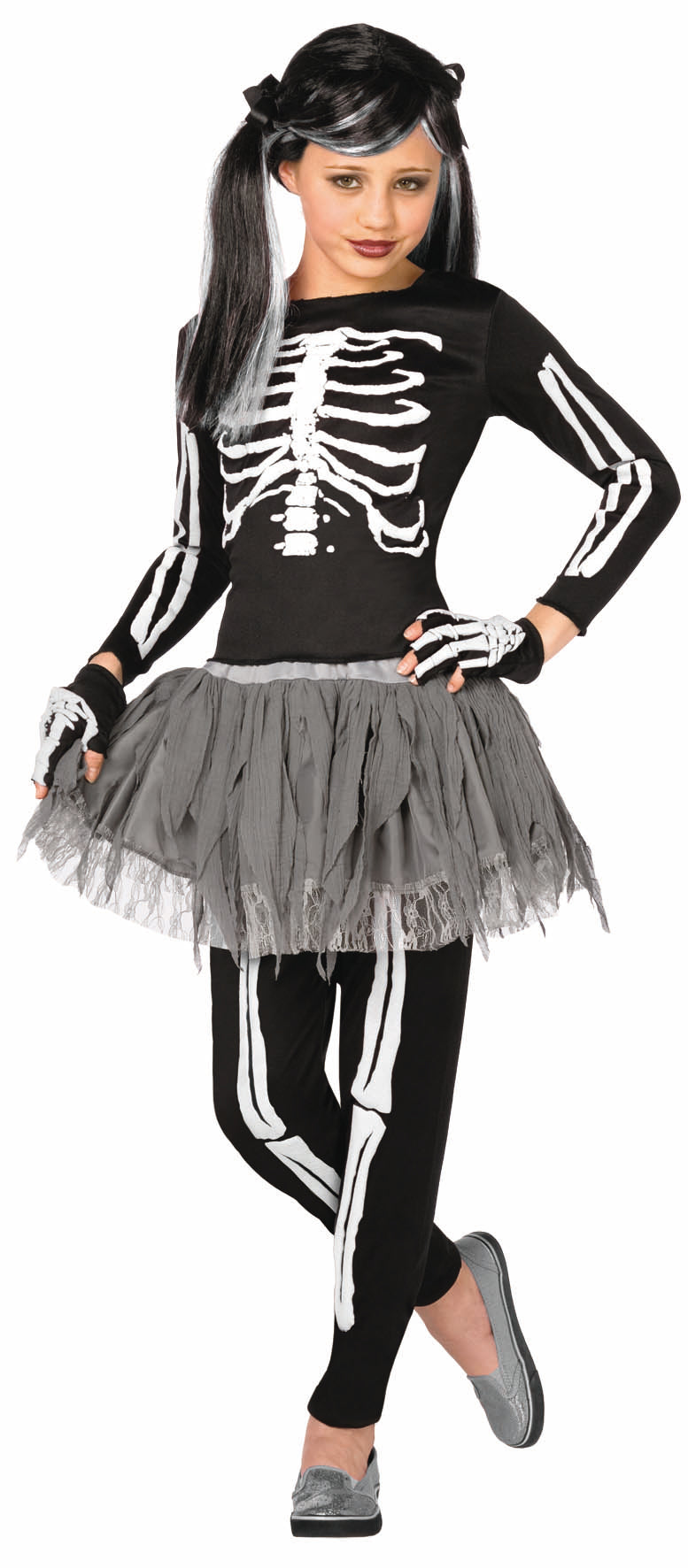 White Skeleton Child's Costume