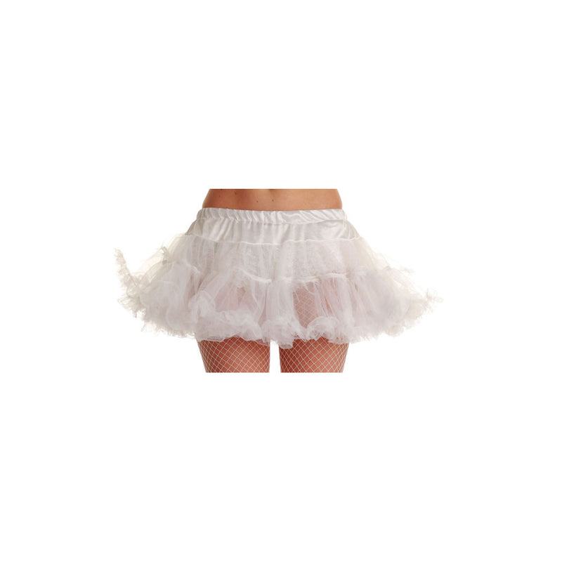 "Ladies white 12"" Ruffle Tutu Petticoat"