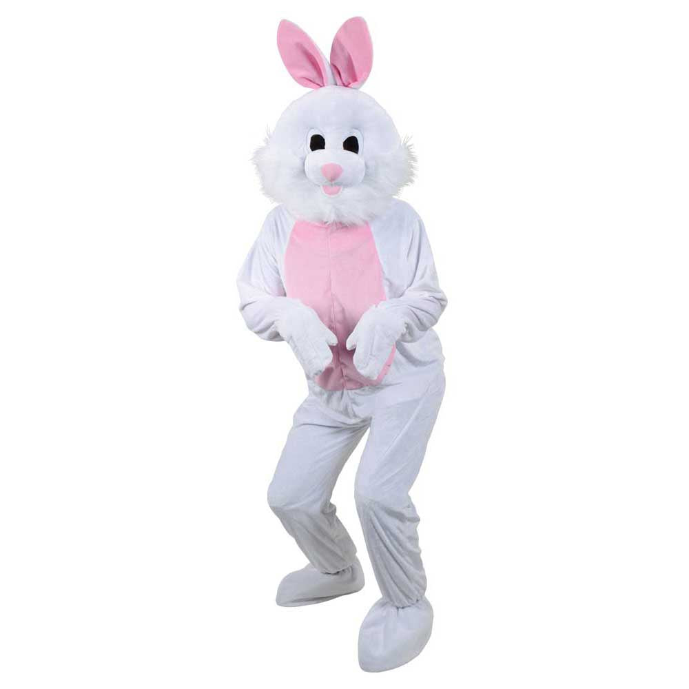 White Mascot Bunny Rabbit suit costume.