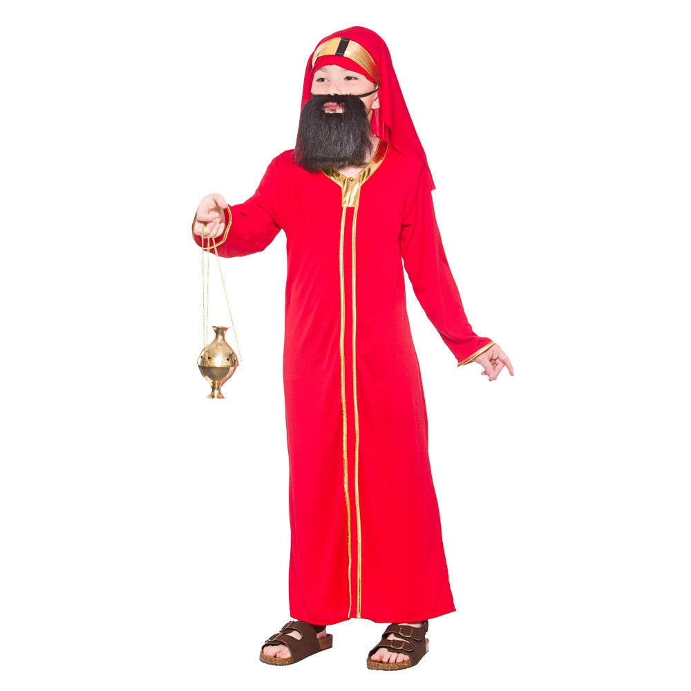 Boys Wise Man Balthazar Costume - Red