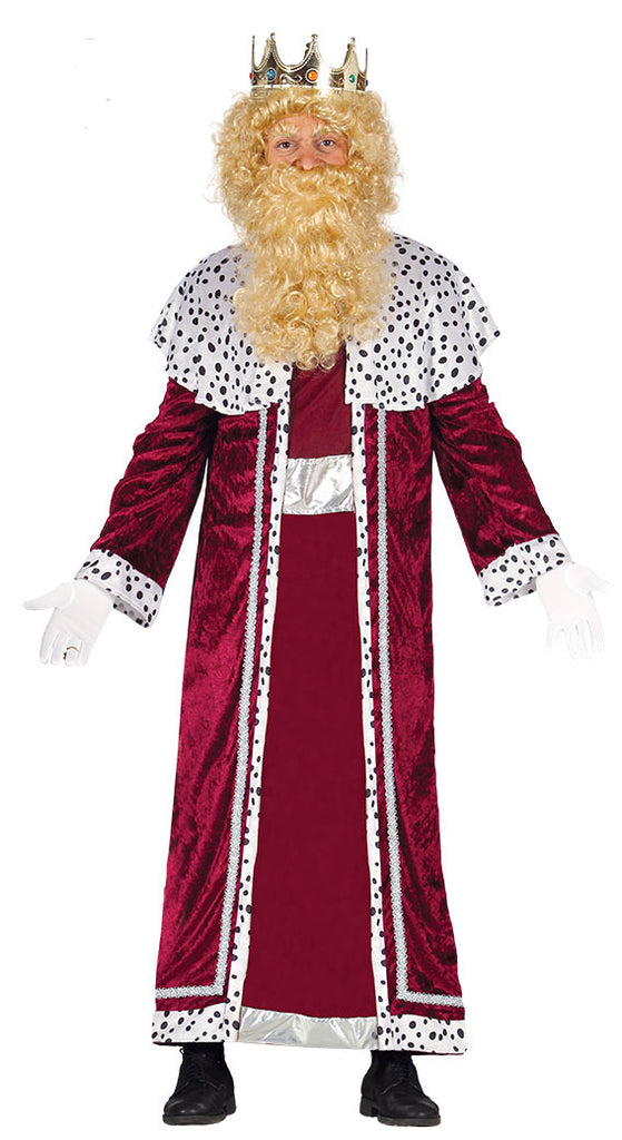 Wise Man King Balthazar Costume Adult Red