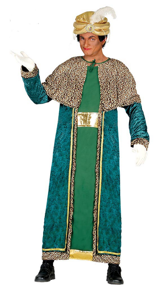 Wise Man King Melchior Adult Nativity Costume Green