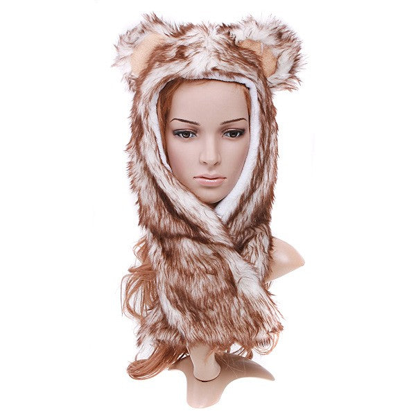 Wolf Plush Soft Warm hat