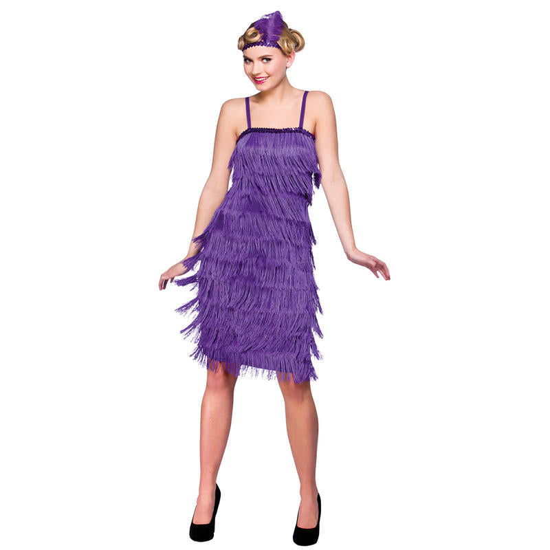 Shimmy up a storm in this Charleston style dress! You'll be sure to turn heads with this elegant and stylish Jazzy Flapper Purple Costume.