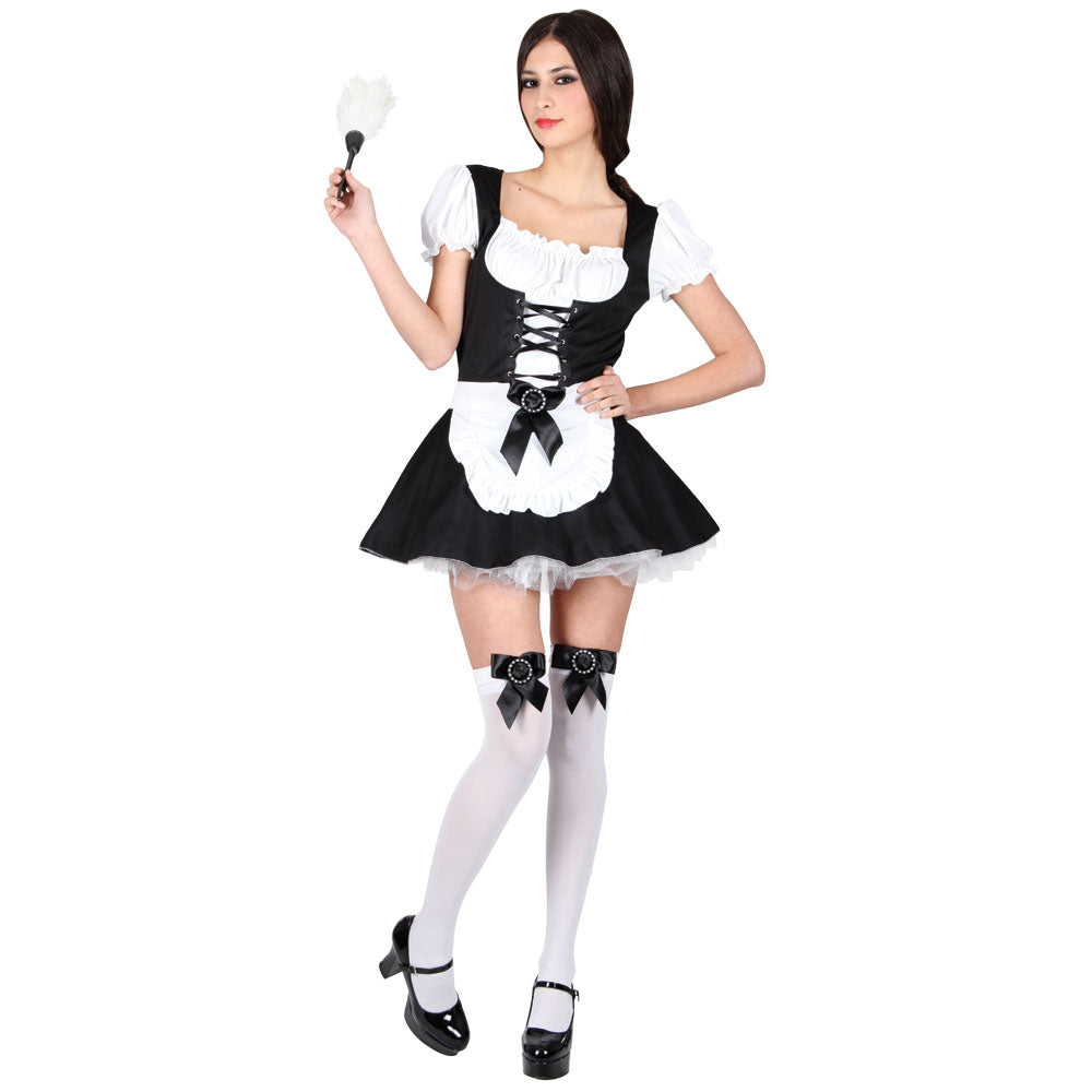 Adult Flirty French Maid fancy dress Costume