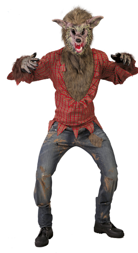 Men's Werewolf Fancy Dress Costume