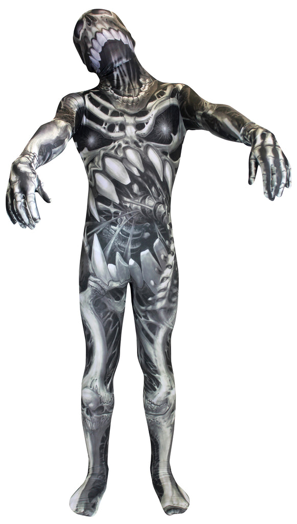 Skull and Bones Skeleton Morphsuit Costume