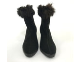 50s Felted Wool Boots