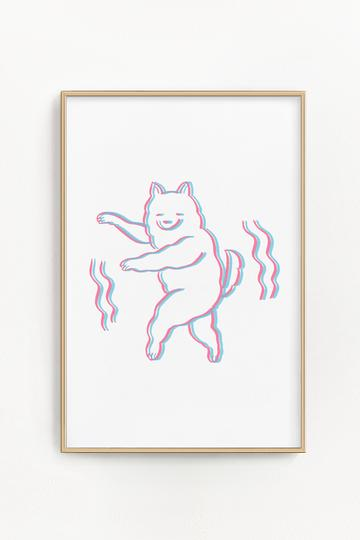 Stay Home Club - Dancing Dog Print