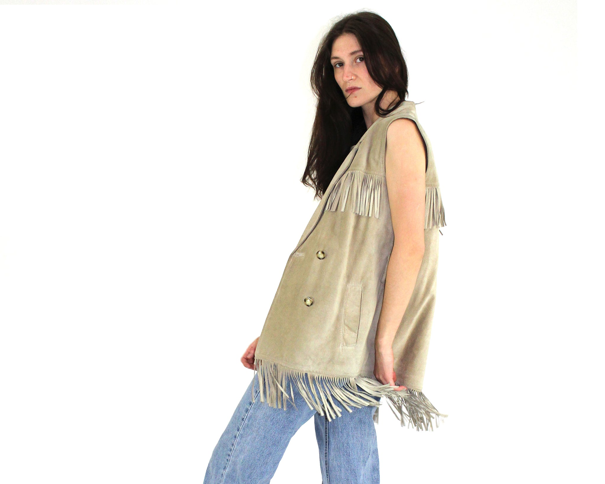 Danier Leather Fringe Vest