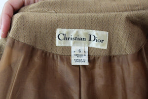 Christian Dior Wool Pinstriped Jacket