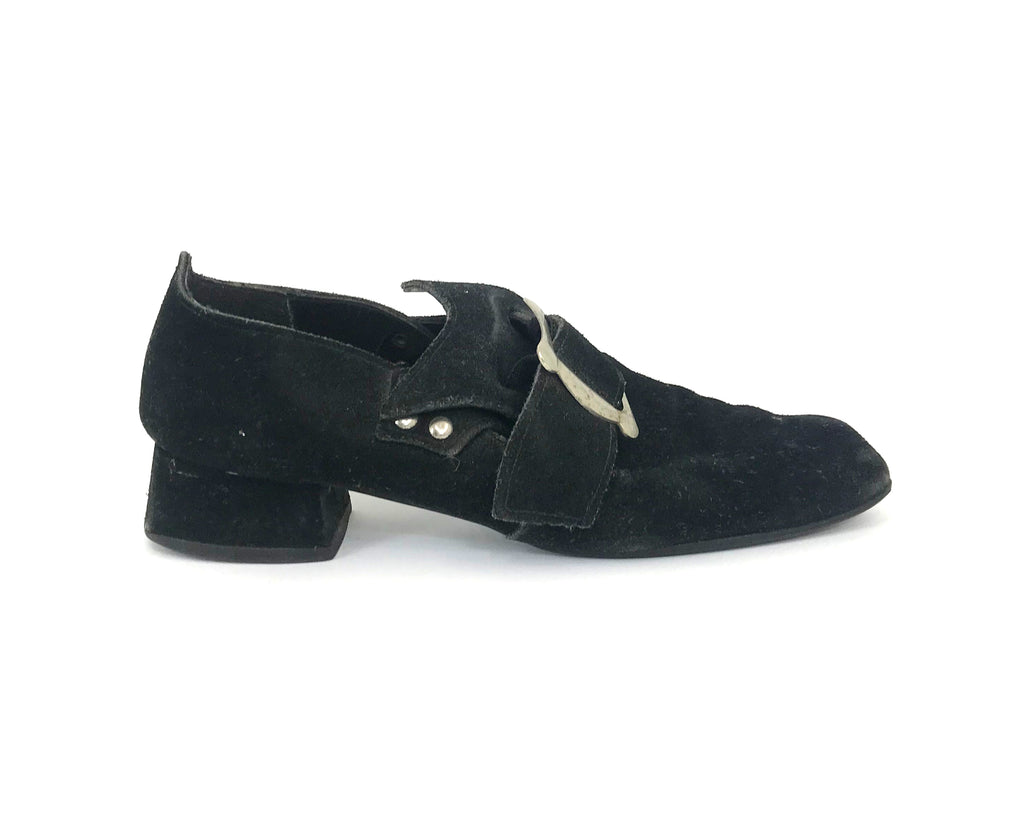 Suede Pirate Mary Janes