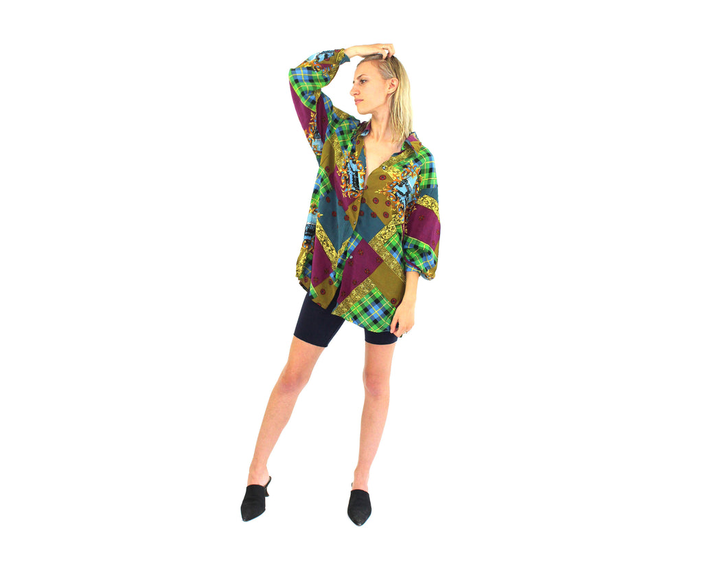 Silk 80s Blouse