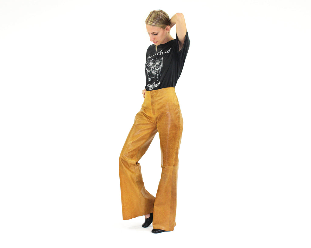 Leather Flared Pants
