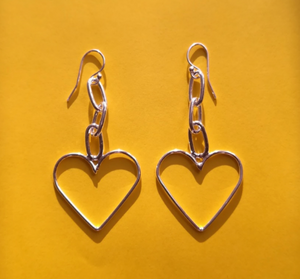 Bilak Heart Chain Earrings