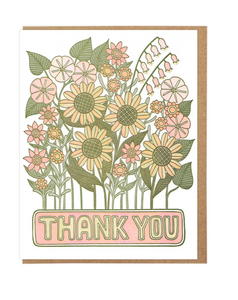 Lucky Horse Press Greeting Card - Thank You Flowers