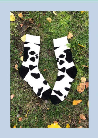 Okie Dokie Cow Print Socks