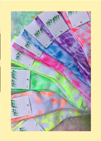 Okie Dokie Tye Dye Socks