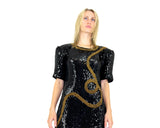 Sequin 80s Dress