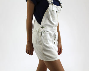 Liberty 70s White Denim Shortalls