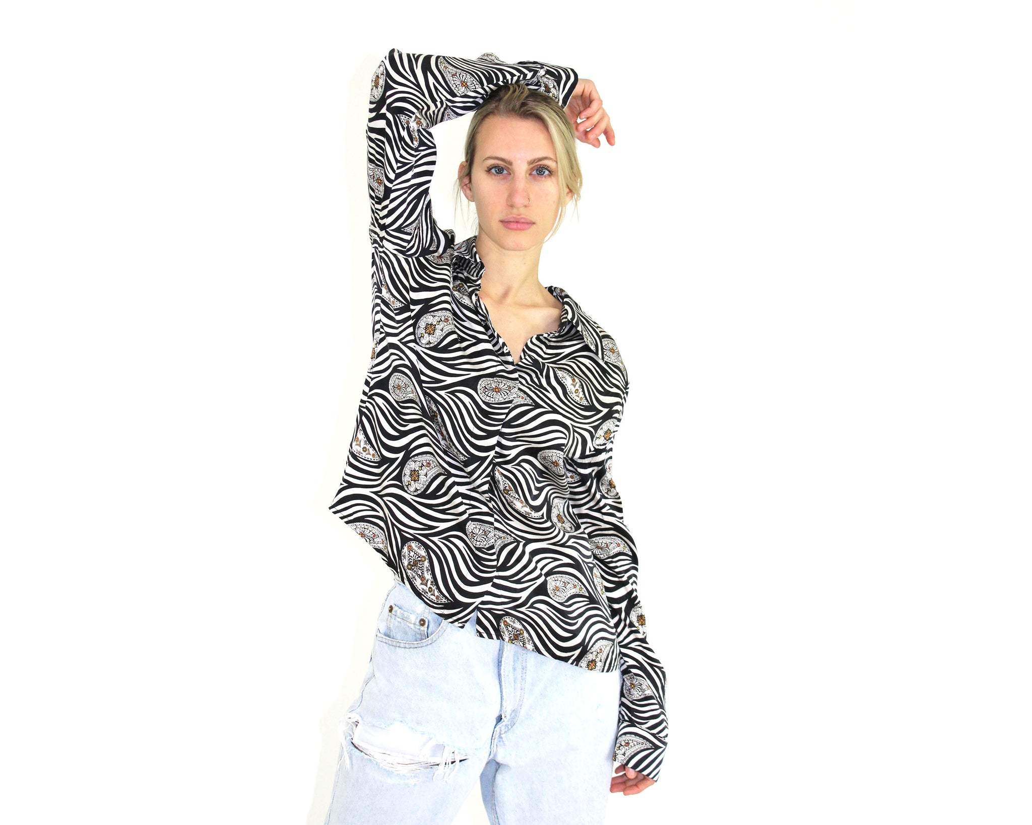 Zebra Silk Blouse