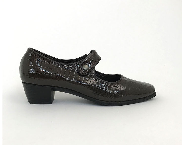 Alligator Patent Leather Mary Janes